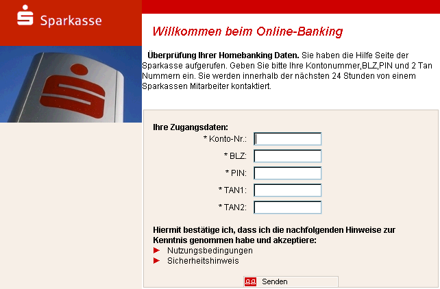 sparkasse online banking virus. Black Bedroom Furniture Sets. Home Design Ideas